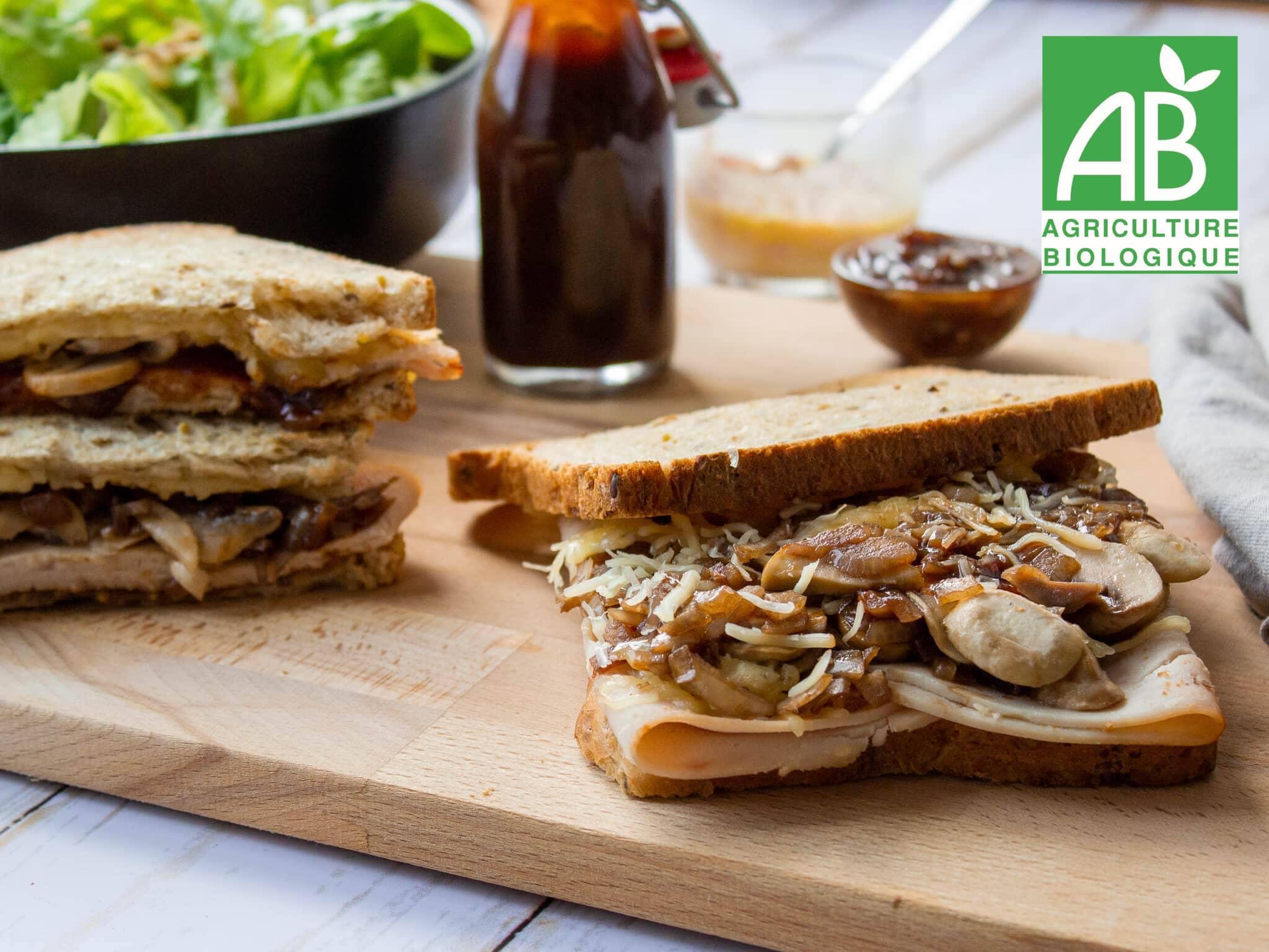 Recette 1 - Sandwich grillé à la volaille BBQ