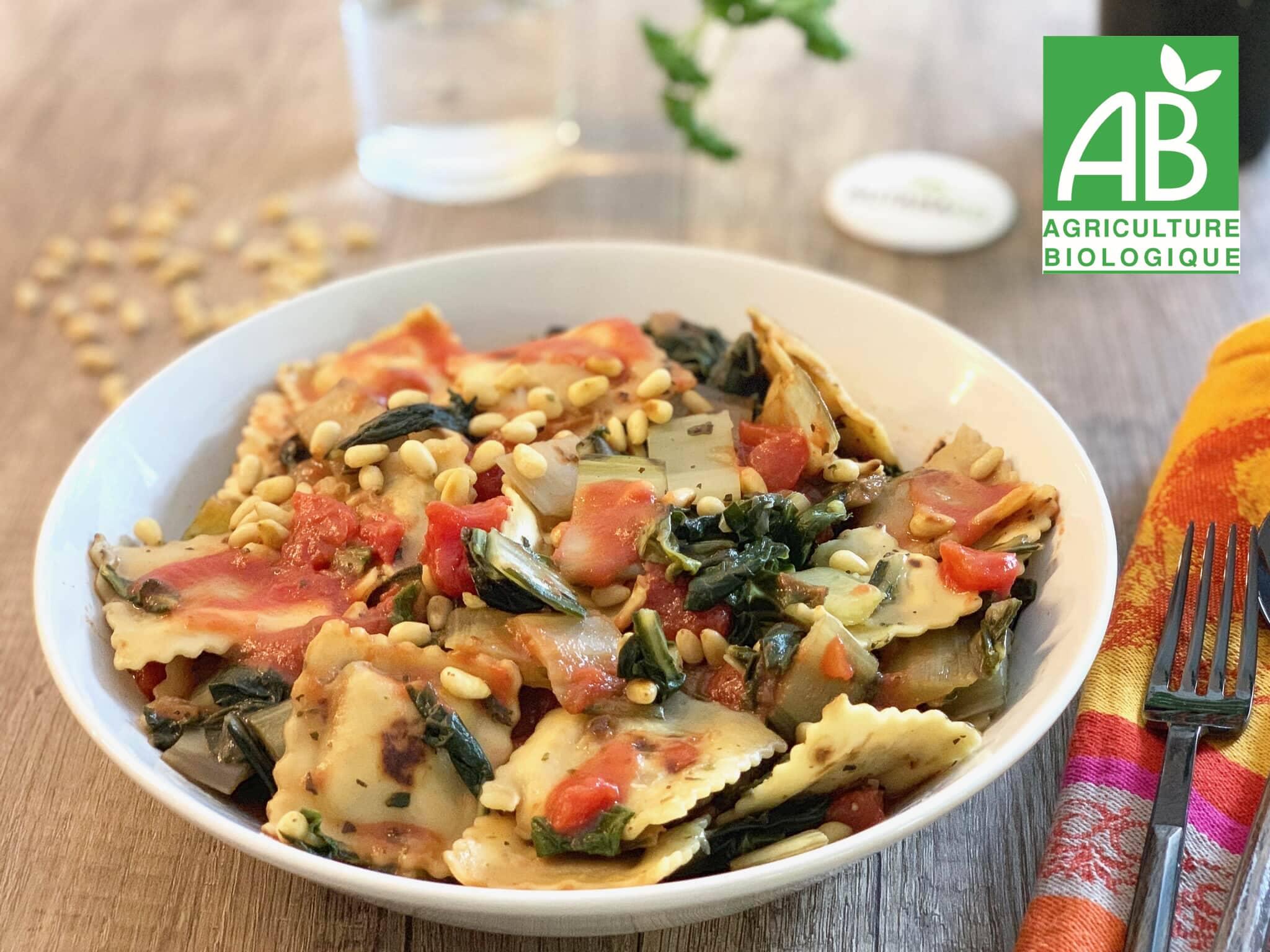 Recette 5 - Poêlée de raviolis aux blettes et pignon