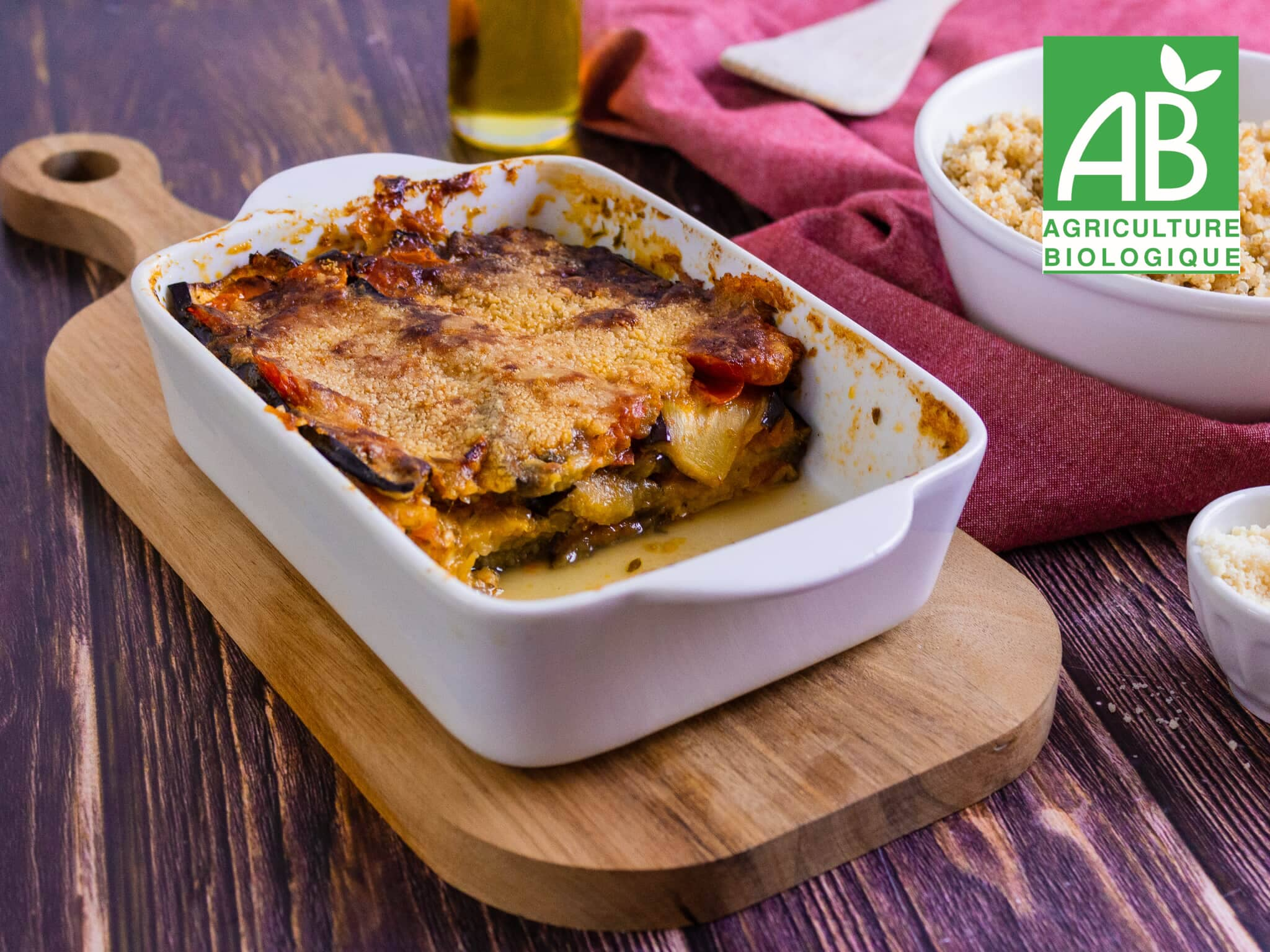 Recette 1 - Gratin d'aubergines à la mozzarella