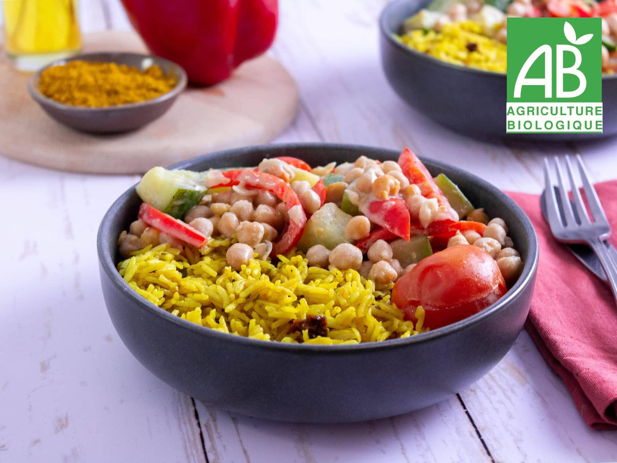 Recette 1 - Légumes au lait de coco et riz au curcuma